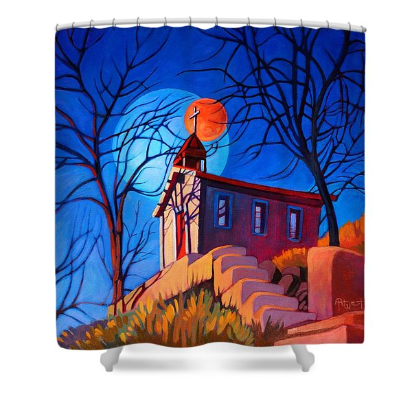Chapel On The Hill Shower Curtain