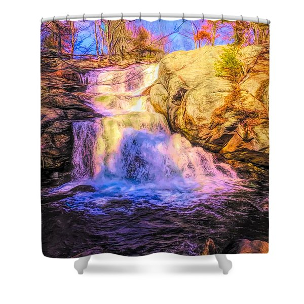 Chapman Falls Connecticut Shower Curtain