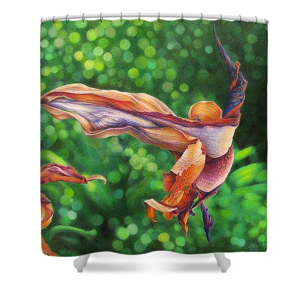Character Lines Shower Curtain