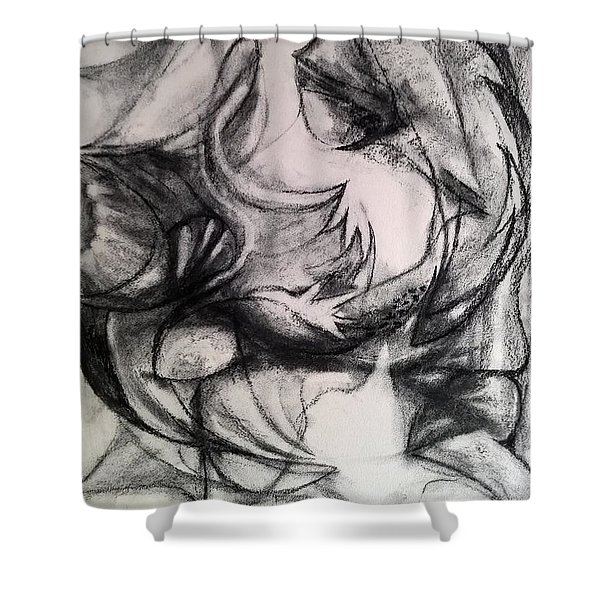 Charcoal Study Shower Curtain