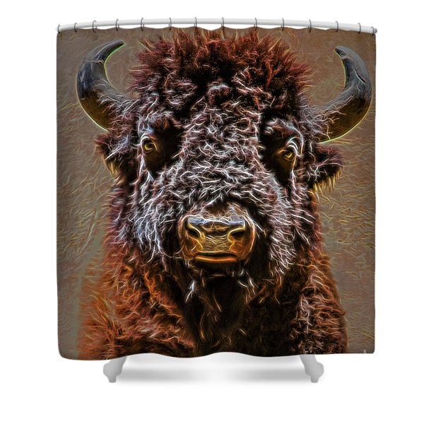 Charging Bison Shower Curtain