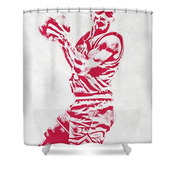 Charles Barkley Philadelphia Sixers Pixel Art Shower Curtain