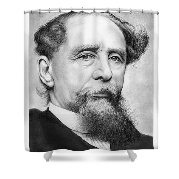 Charles Dickens Shower Curtain