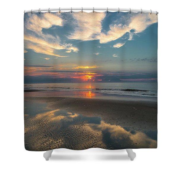 Charleston Coast Sunrise Shower Curtain