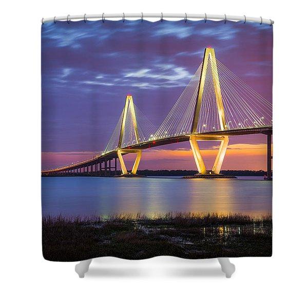 Charleston Sc Arthur Ravenel Jr Bridge Shower Curtain