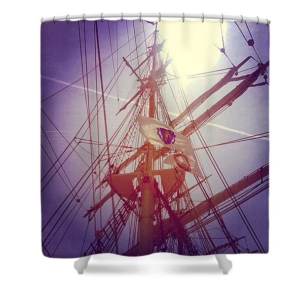 A Voyage Home Shower Curtain
