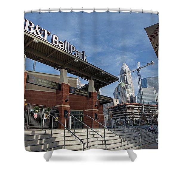 Charlotte Knights Ballpark Shower Curtain