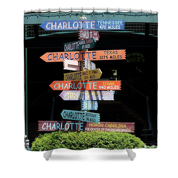 Charlotte Signs Shower Curtain