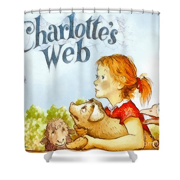 Charlottes Web Shower Curtain