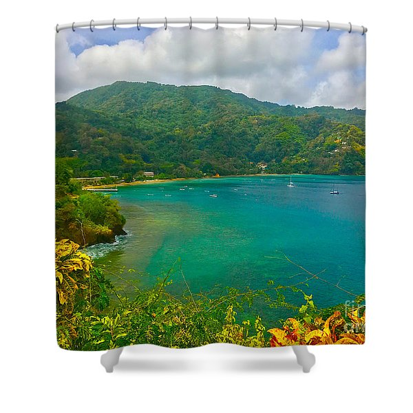 Charlotteville View  Shower Curtain