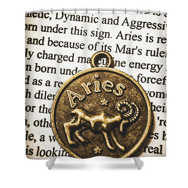 Charm Of Aries Shower Curtain