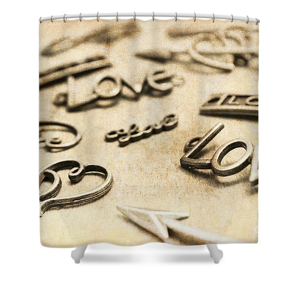 Charming Old Fashion Love Shower Curtain