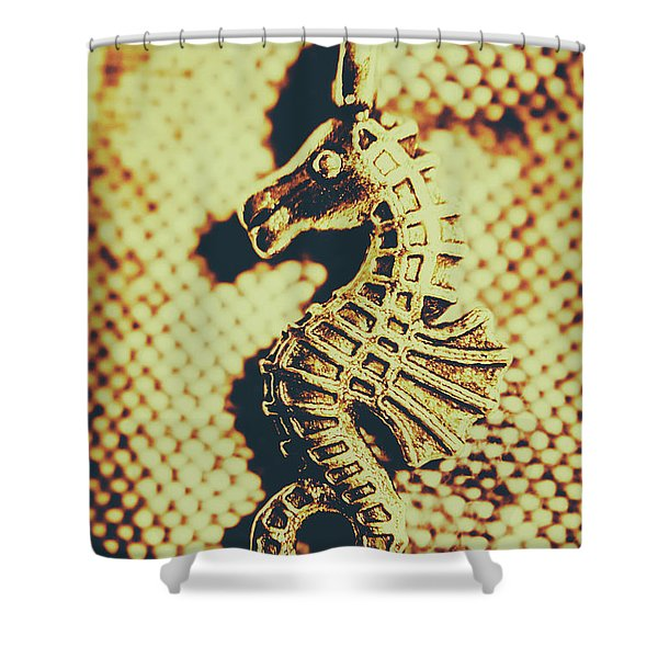 Charming Vintage Seahorse Shower Curtain