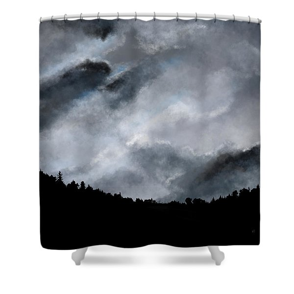 Shower Curtain featuring the digital art Chasing The Storm by Mark Taylor
