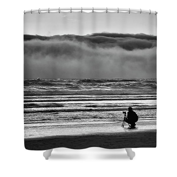 Chasing Tide And Light Shower Curtain