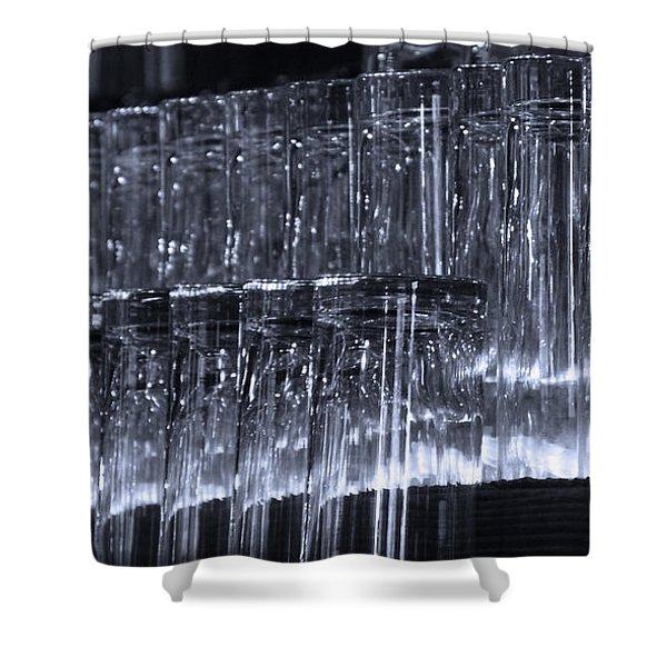 Chasing Waterfalls - Blue Shower Curtain