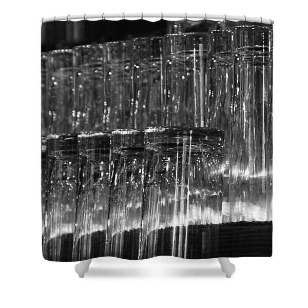 Chasing Waterfalls - Bw Shower Curtain