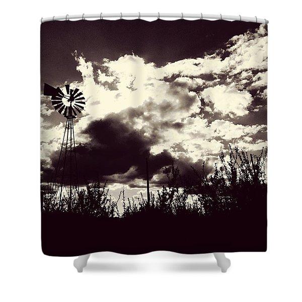 Chasing Windmills Shower Curtain
