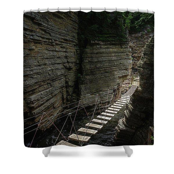 Chasm Bridge Shower Curtain