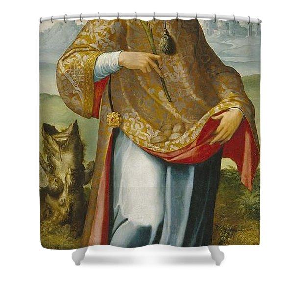 chasuble on Saint Ildefonso Shower Curtain