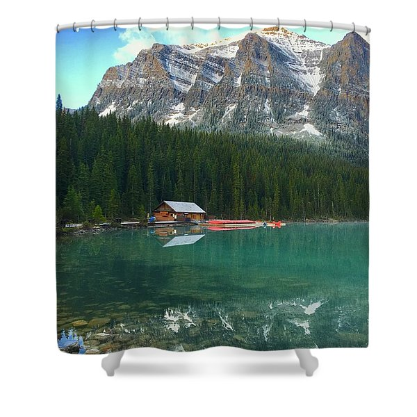 Chateau Boat House Shower Curtain