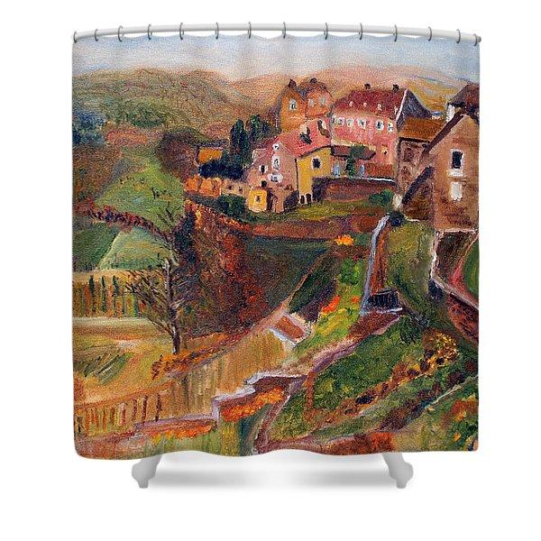 Chateau Chalon Shower Curtain
