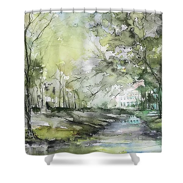Chateau In Provence  Shower Curtain