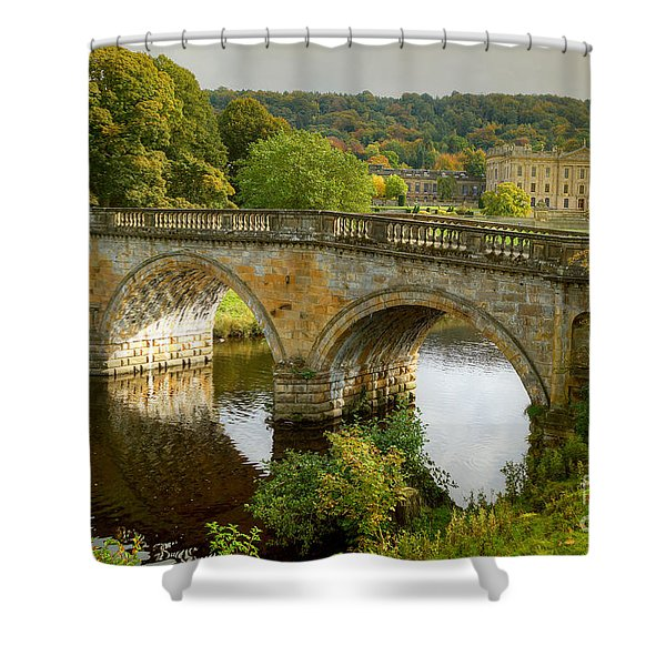 Chatsworth House And Bridge Shower Curtain