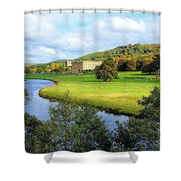 Chatsworth House View Shower Curtain