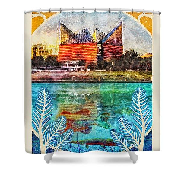 Chattanooga Aquarium Poster Shower Curtain