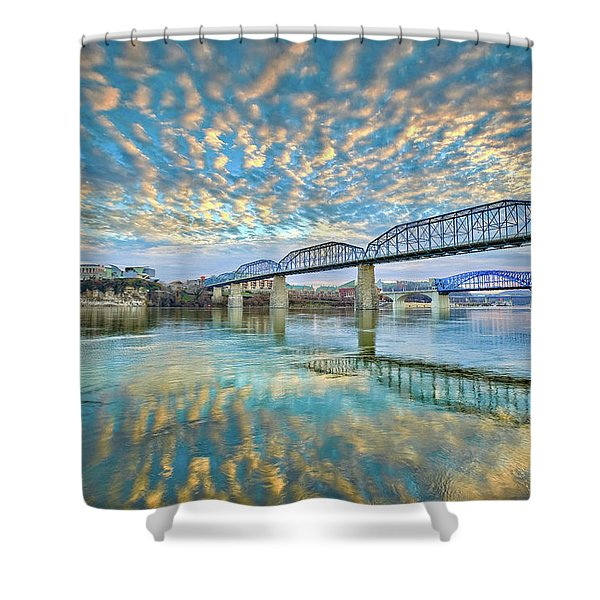 Chattanooga Has Crazy Clouds Shower Curtain