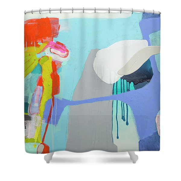 Chatting With The Mirror Shower Curtain