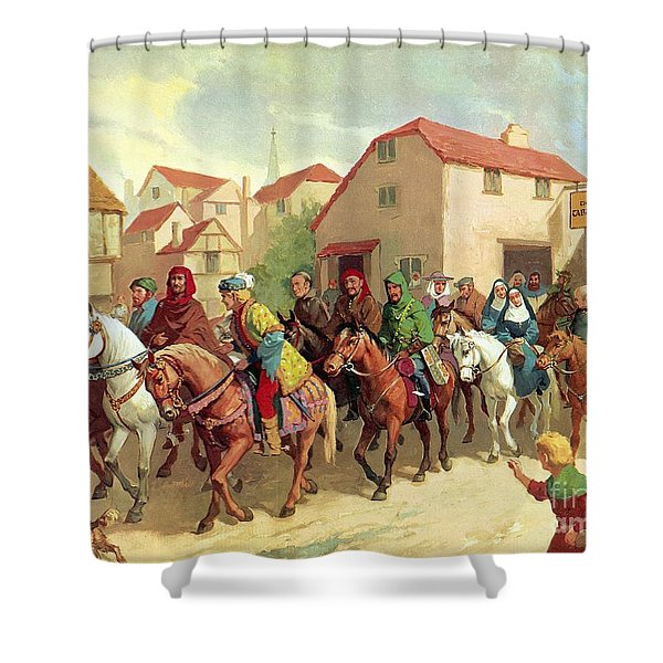 Chaucer's Pilgrims Shower Curtain