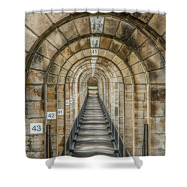 Chaumont Viaduct France Shower Curtain