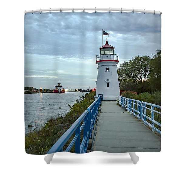 Cheboygan Crib Lighthouse Lake Huron, Lower Peninsula Mi Shower Curtain
