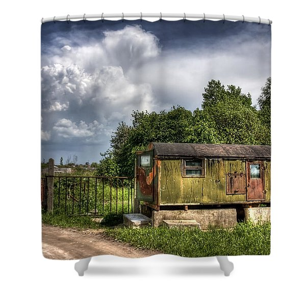 Checkpoint Shower Curtain