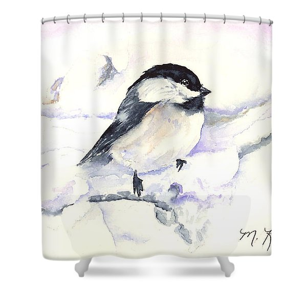 Cheeky Chickadee Shower Curtain