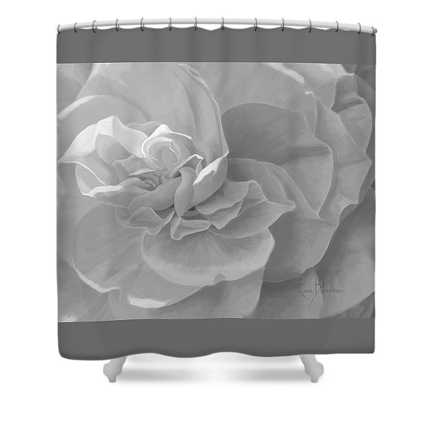 Cheerful - Black And White Shower Curtain
