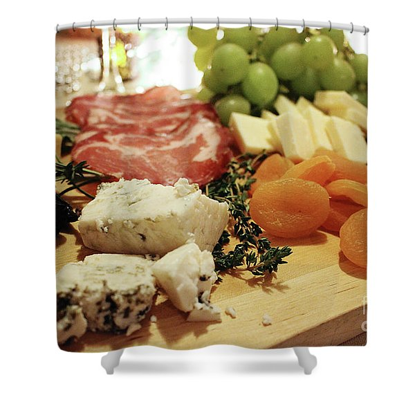 Cheese And Meat Shower Curtain