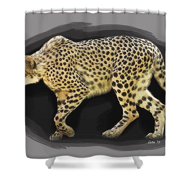 Cheetah 10 Shower Curtain