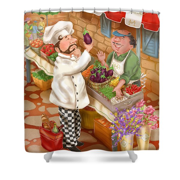 Chefs Go To Market I Shower Curtain