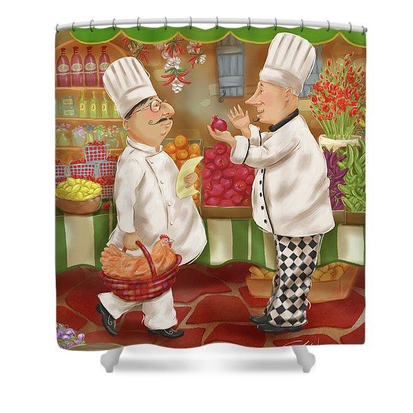 Chefs Go To Market Iv Shower Curtain