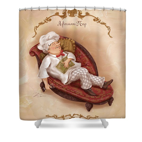 Chefs On A Break-afternoon Nap Shower Curtain