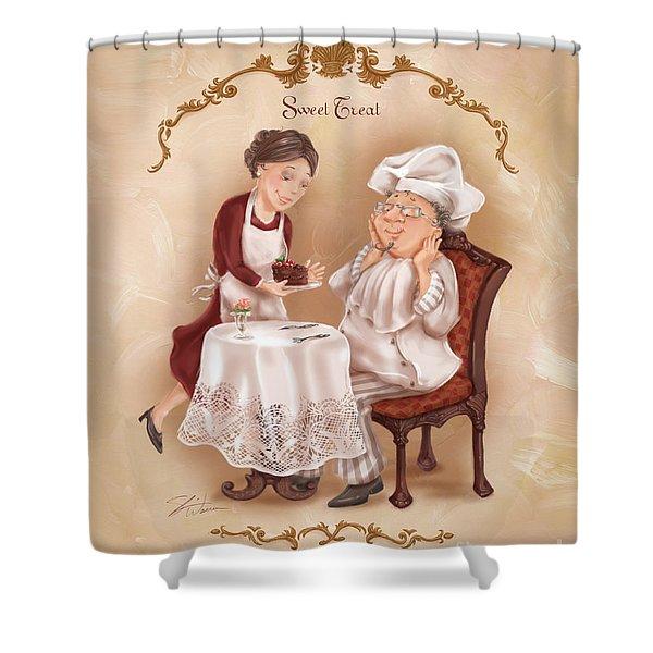Chefs On A Break-sweet Treat Shower Curtain