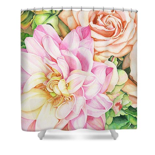Chelsea's Bouquet Shower Curtain
