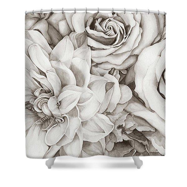 Chelsea's Bouquet - Neutral Shower Curtain