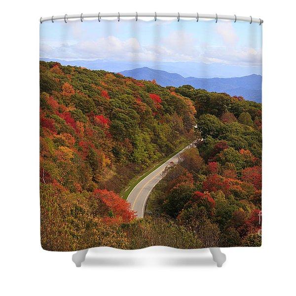 Cherohala Skyway In Nc Shower Curtain