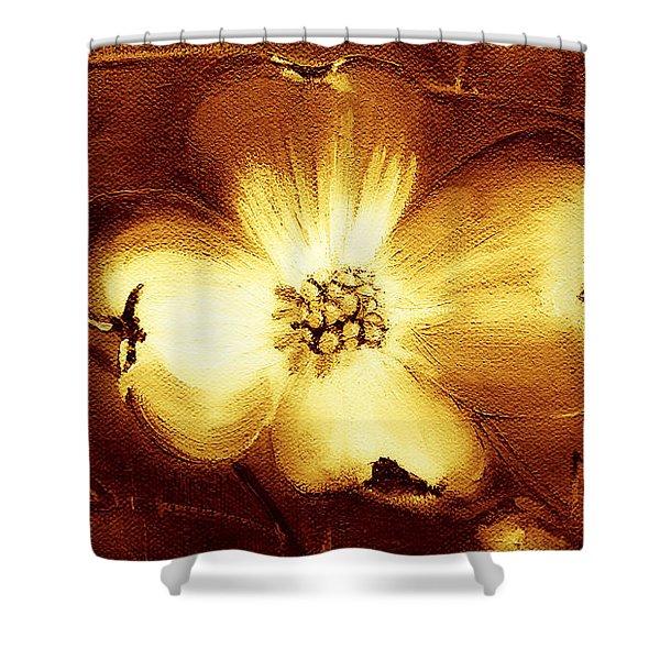 Cherokee Rose Dogwood - Single Glow Shower Curtain