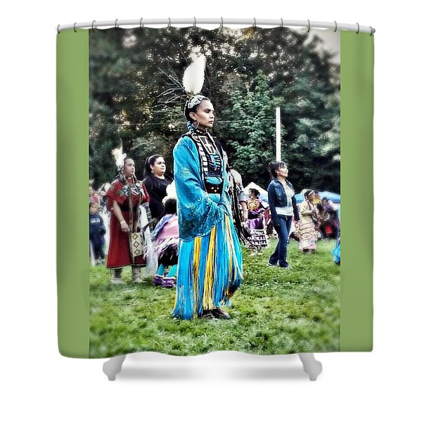 Cherokee Warrior Shower Curtain