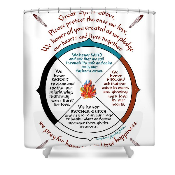 Cherokee Wedding Blessing Shower Curtain